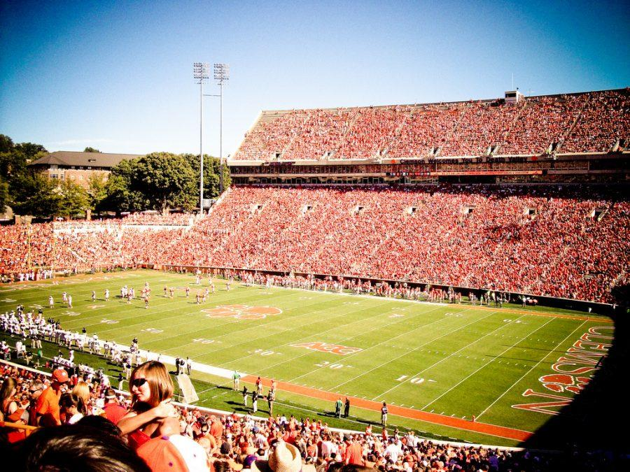 Clemson Football playing at home