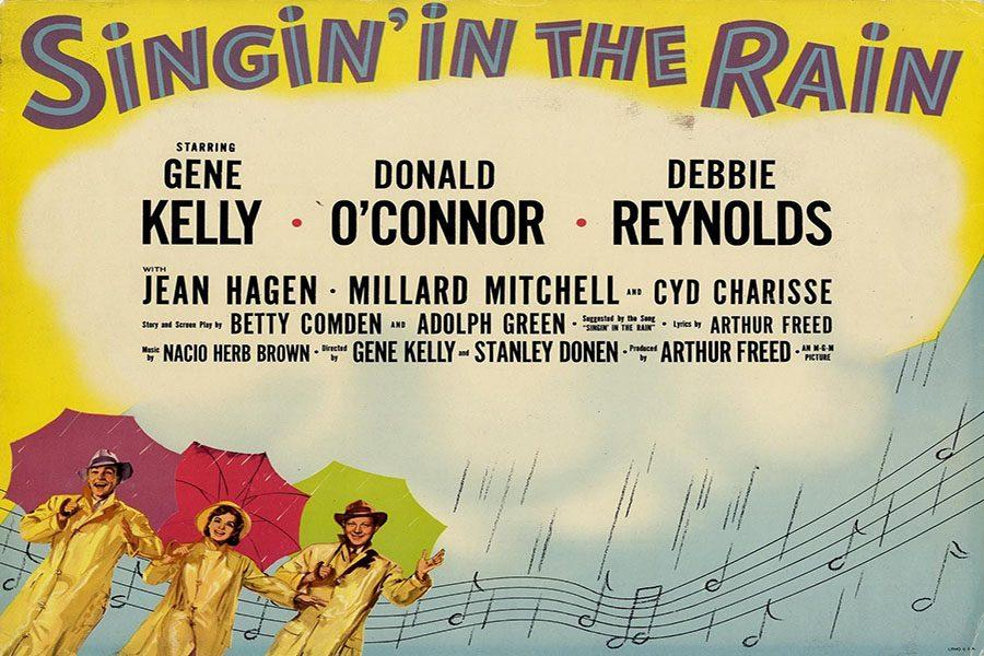 'Singin' in the Rain' promotional poster featuring Debbie Reynolds.