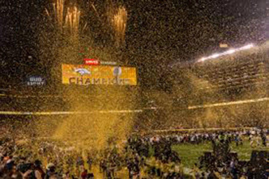 The Denver Broncos celebrate their Super Bowl 50 win