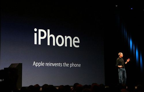 Steve Jobs unveils the original iPhone in 2007