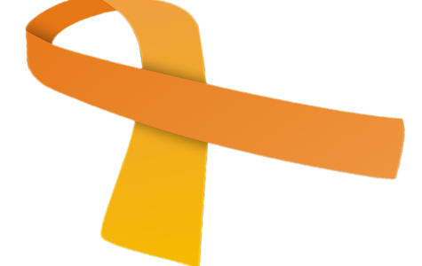 This picture represents the symbol for childhood cancer
