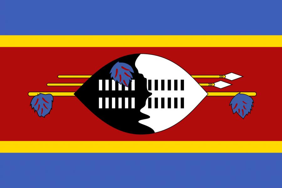 The Swaziland Flag (Photo courtesy Wikipedia via Creative Commons)