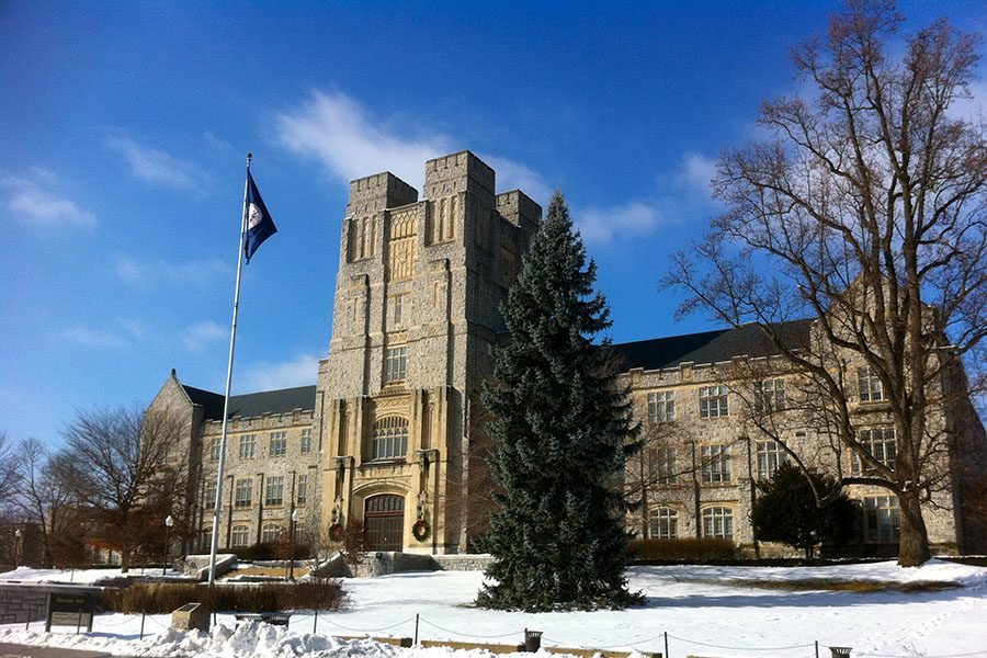 Burruss Hall, the main hall at Virginia Tech, a school many Battlefield students strive to attend.