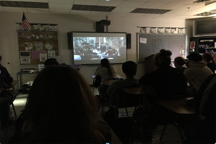 Mrs. Henry's Film Studies class watching The Sixth Sense.