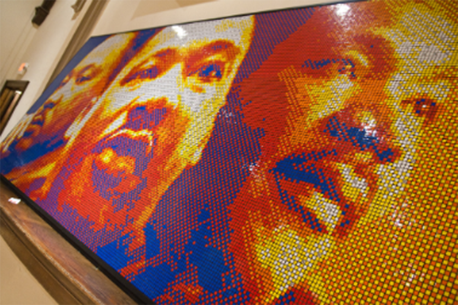 A Rubik's Cube Mosaic featuring Martin Luther King Jr.