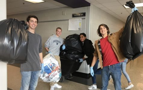 Pictured are members of the Environmental club collecting Battlefield's recycling. Photo by Amber Mahmood.