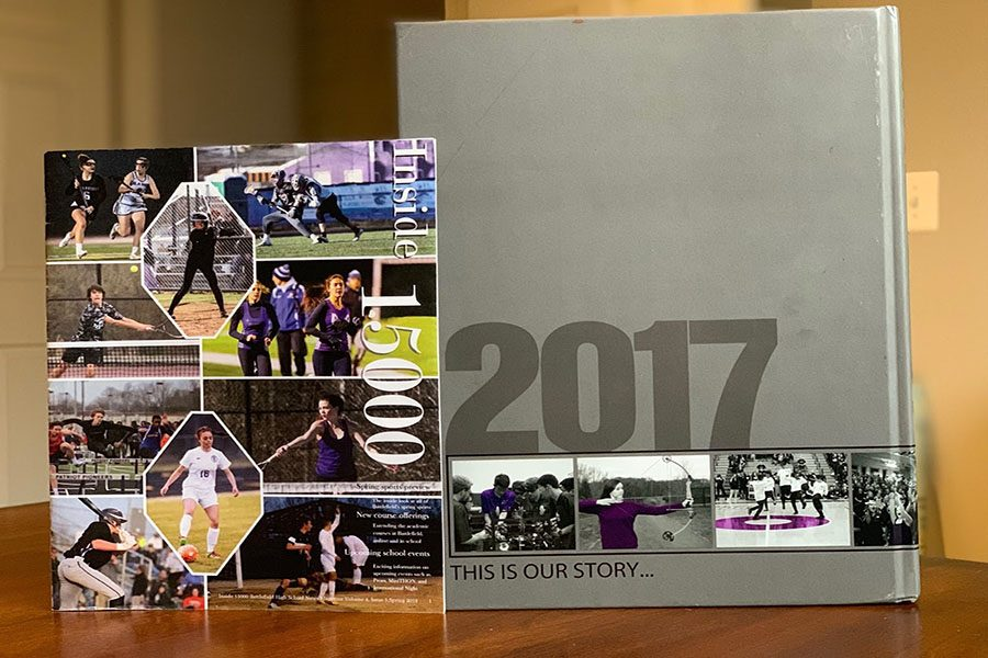 Photo+of+journalism+magazine+and+2017+yearbook%2C+both+created+by+the+students+in+those+electives.+Photo+courtesy+of+Madison+Thorpe.+