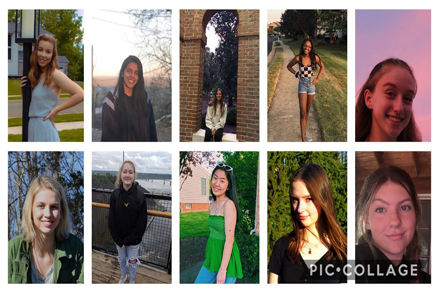 Photo courtesy of (from top to bottom left to right) Rylee Pledger, Jasmin Kaur, Nora Keely, Valiyah Henry ,Emily Schillip,Camille Owens, Emma Swain, Vivian Lee, Emma Kelly, and Catlin Stintson