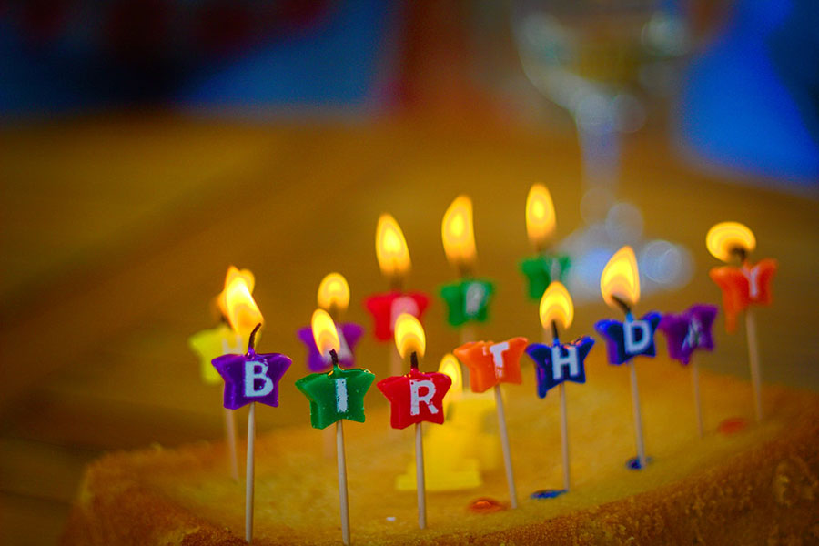 A birthday cake with happy birthday candles.  Photo courtesy of Flickr via Creative Commons