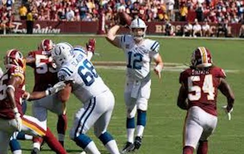 Andrew Luck (number 12) during a game against the Redskins. Photo courtesy of Flickr via Creative Commons