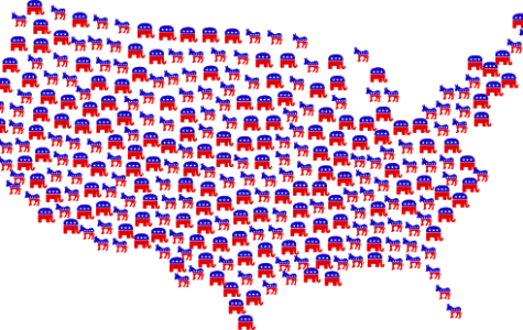 United States made of political party symbols. Photo courtesy of Pixabay via Creative Commons.