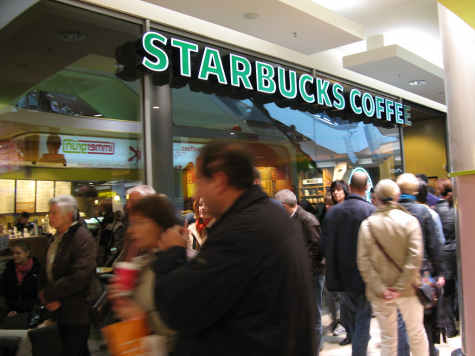 Rush hour at a popular coffee shop,  Photo courtesy of Flickr via Creative Commons