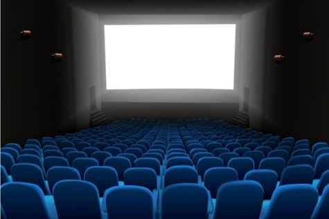 A typical movie theater room.